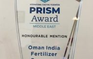 Oman India Fertilizer Company and Dubai Airports were celebrated at the first-ever virtual ICF Middle East Prism Award event