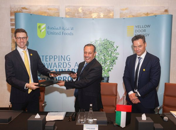 United Foods Company to Enhance Sustainability Efforts with 2-Megawatt solar power plant